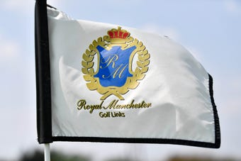 Northeastern head coach Todd Sadowski breaks down challenges of Royal Manchester Golf Links.