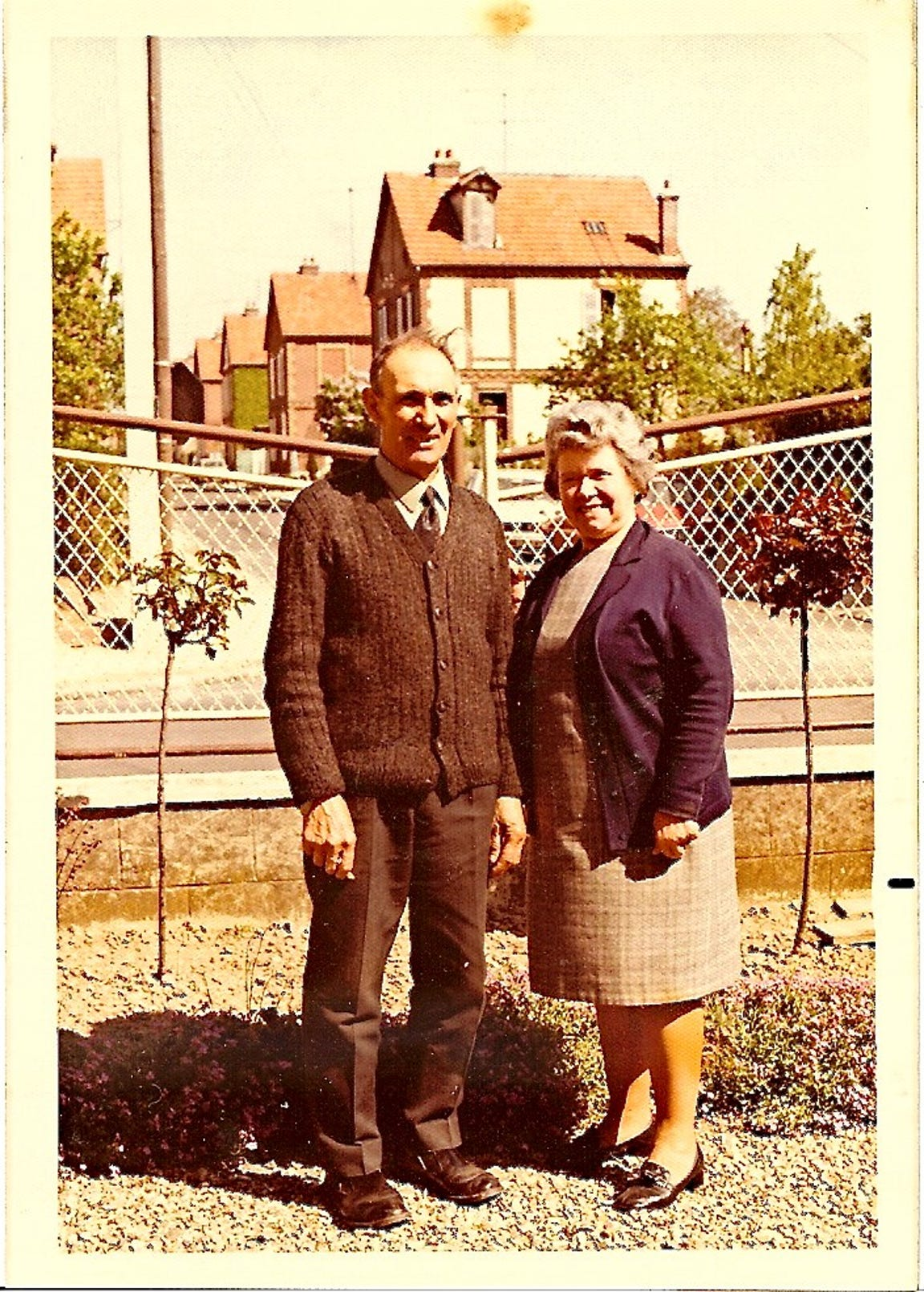 A photo of Leon Malmed's adoptive parents, Henri and Suzanne Ribouleau, taken in 1960.