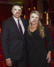 Ty and Abbi Whitaker are shown during the Nevada Masquerade Ball at the Peppermill in Reno in February. Their firm, The Abbi Agency, has been honored as one of the fastest-growing businesses in the U.S.