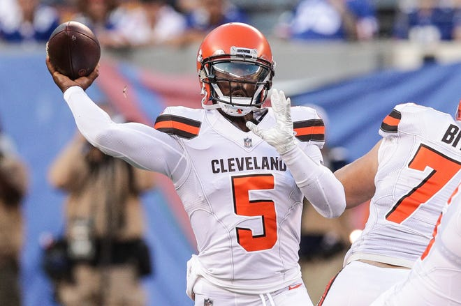 Ex-Bills quarterback Tyrod Taylor is now the starter in Cleveland.