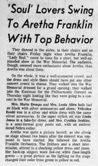 Aretha Franklin Concert October 11, 1968.
