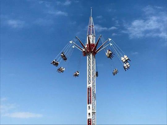 The Star Tower is a new thriller-ride at the Oregon State Fair.