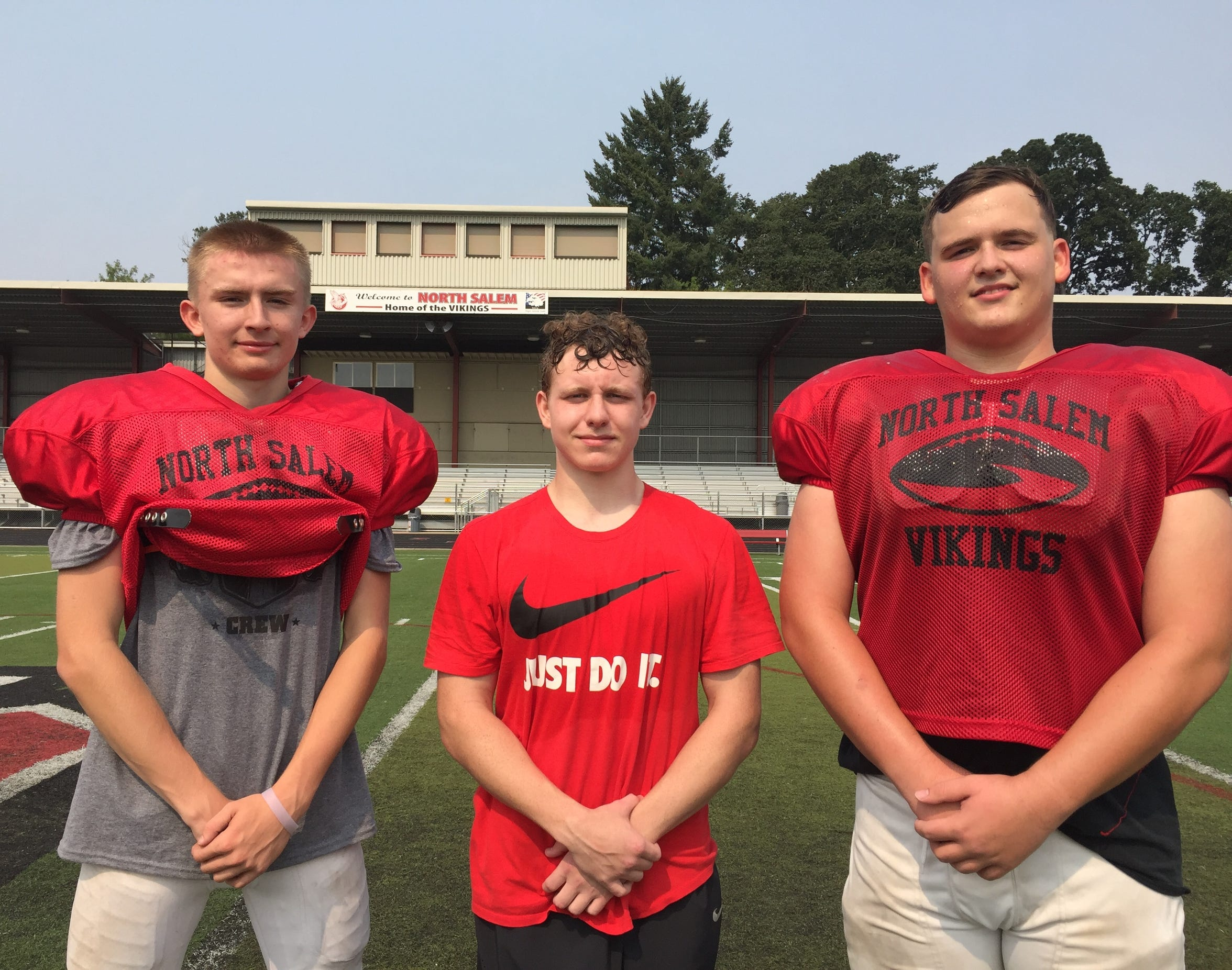 North Salem has veteran leadership with seniors from left: Zac Sullivan, Travis Hardy and Andre Beall.