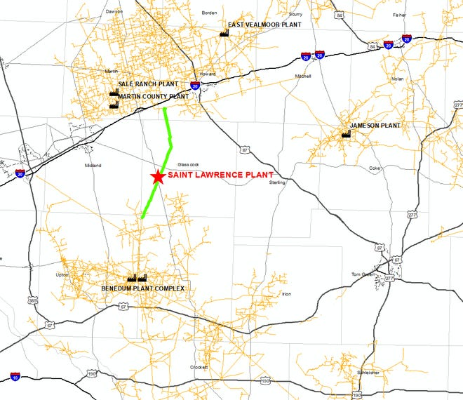 Midland-based WTG Gas Processing, L.P. announced plans to build a new cryogenic natural gas processing plant near St. Lawrence in Glasscock County, which they expect will be online by the third quarter of 2019.