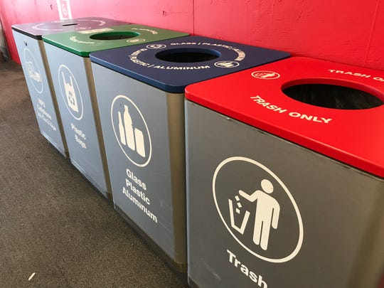 Recycling bins located at Target in San Angelo.