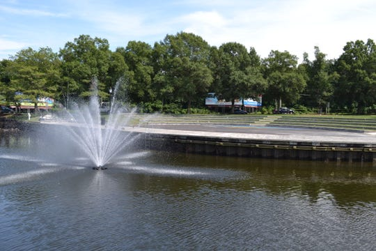 The new Riverwalk Amphitheater and fountain in the Wicomico River are ready for the National Folk Festival on Sept. 7-9 in downtown Salisbury.