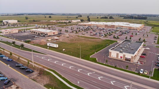 An aerial view of the future site of the sixth Silverstar Car Wash, located in front of the Walmart near the intersection of 85th Street and Minnesota Avenue.