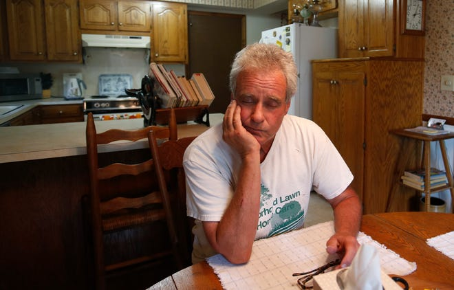 Bobby Hamilton, 66, becomes emotional as he talks about his safe being stolen that contained $100,000 in cash.