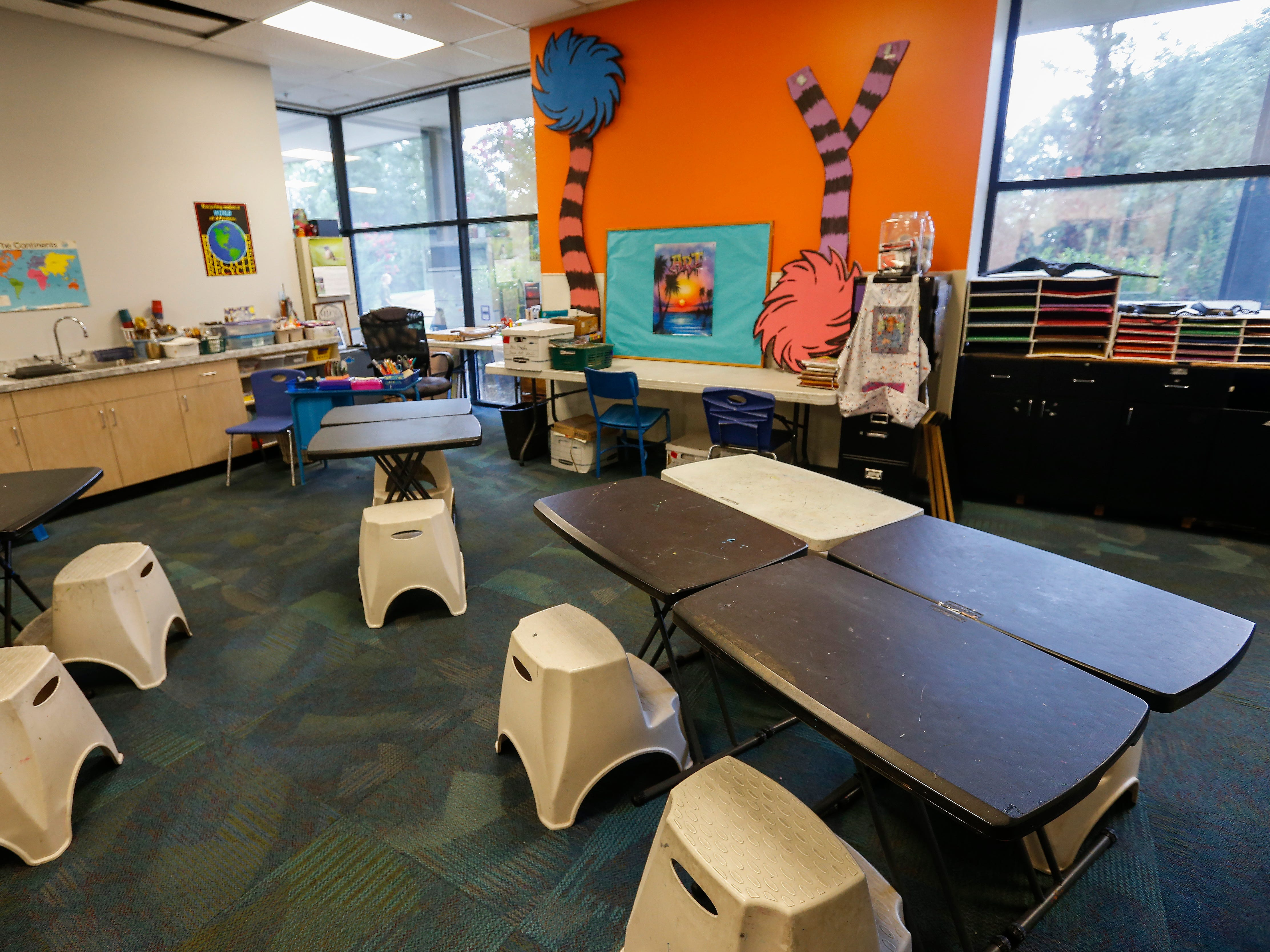 The art room at the Summit Preparatory School.