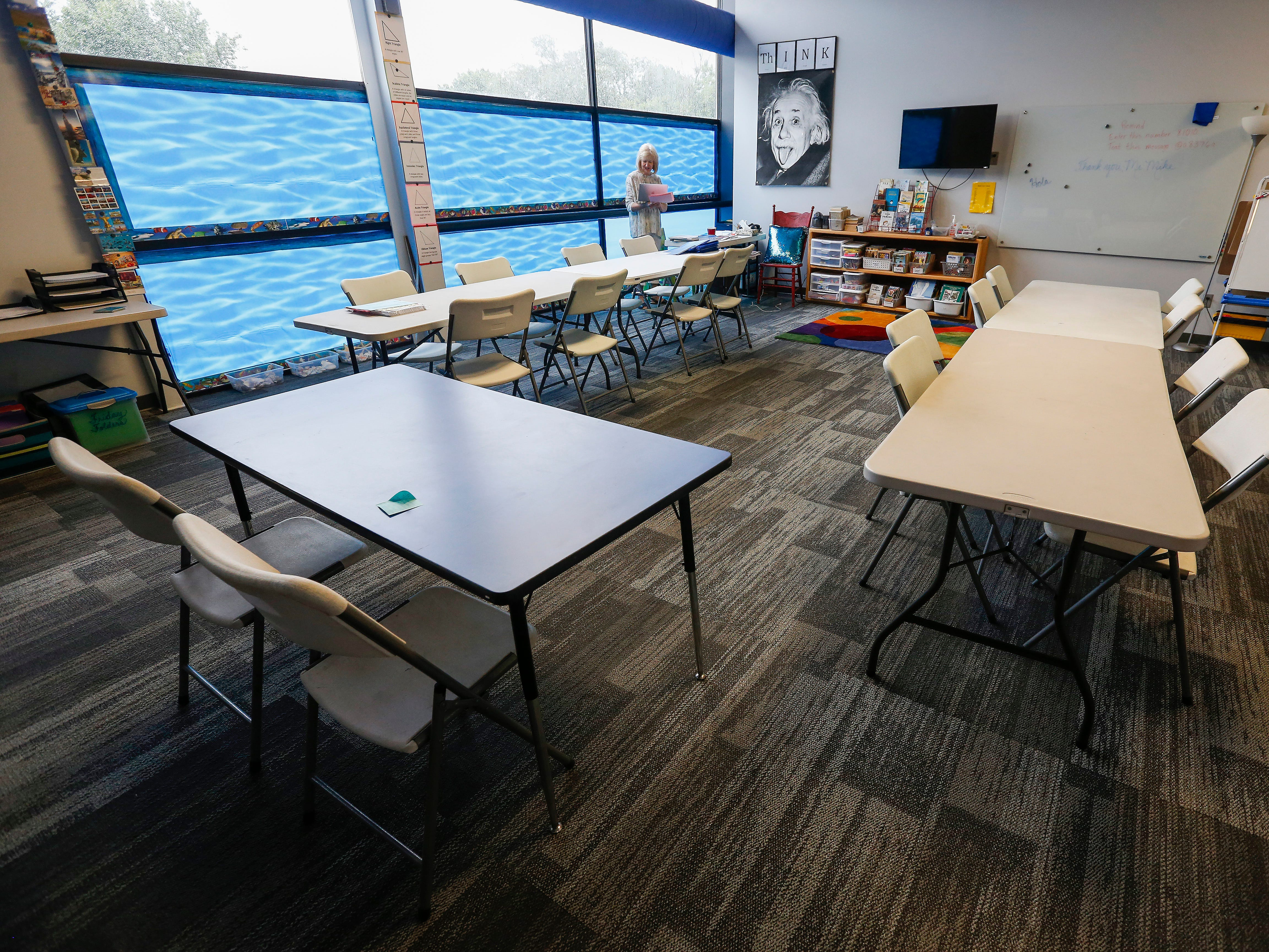 This 4th grade classroom has an aquatic theme at the Summit Preparatory School.