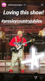The Instagram account belonging to Billy Corgan, frontman of alt-rock band the Smashing Pumpkins, ran a temporary post showing that Corgan attended Presleys' Country Jubilee in Branson on Wednesday night.