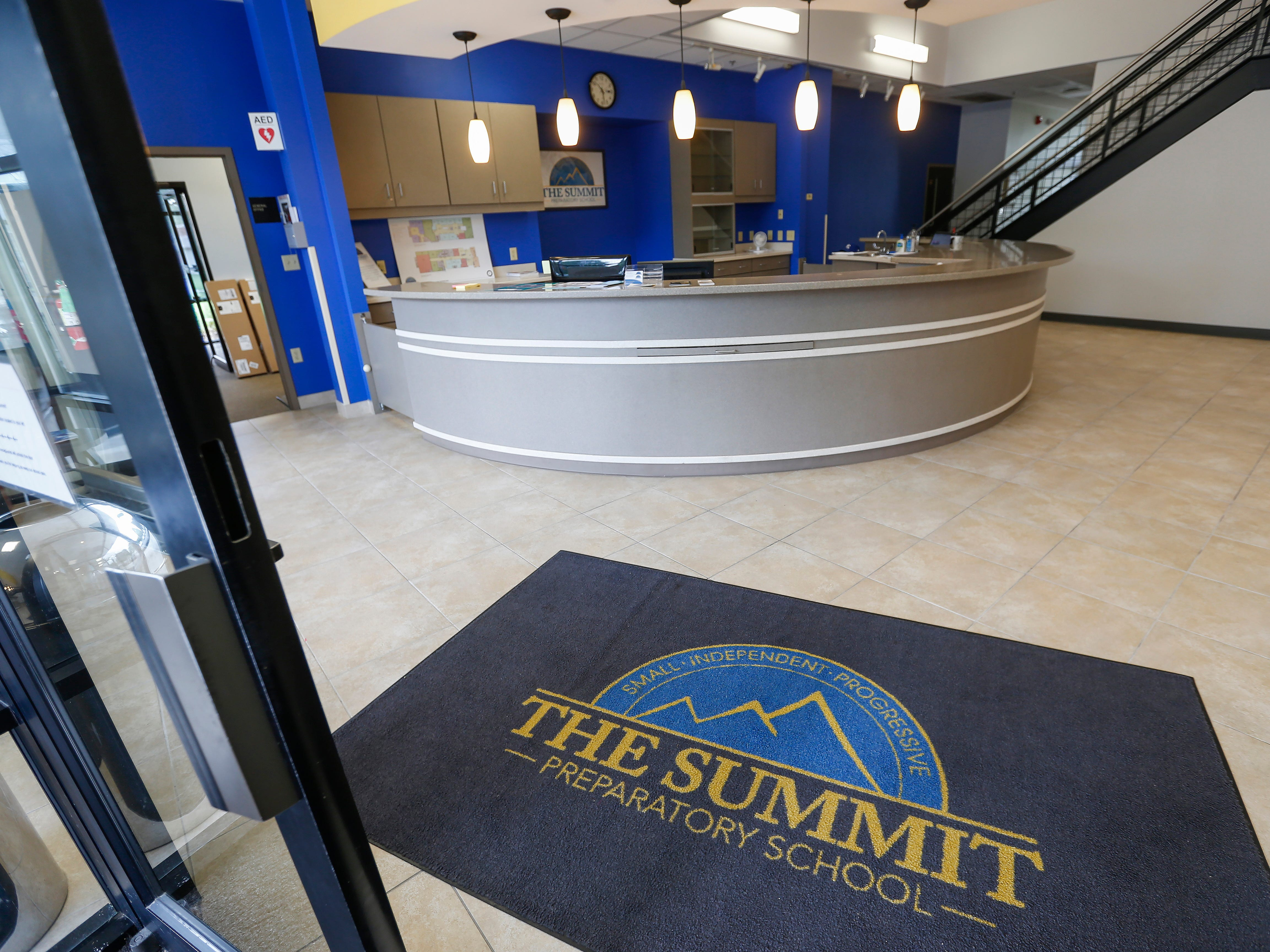 The main lobby at the Summit Preparatory School's new location at 202 E. Walnut Lawn St.