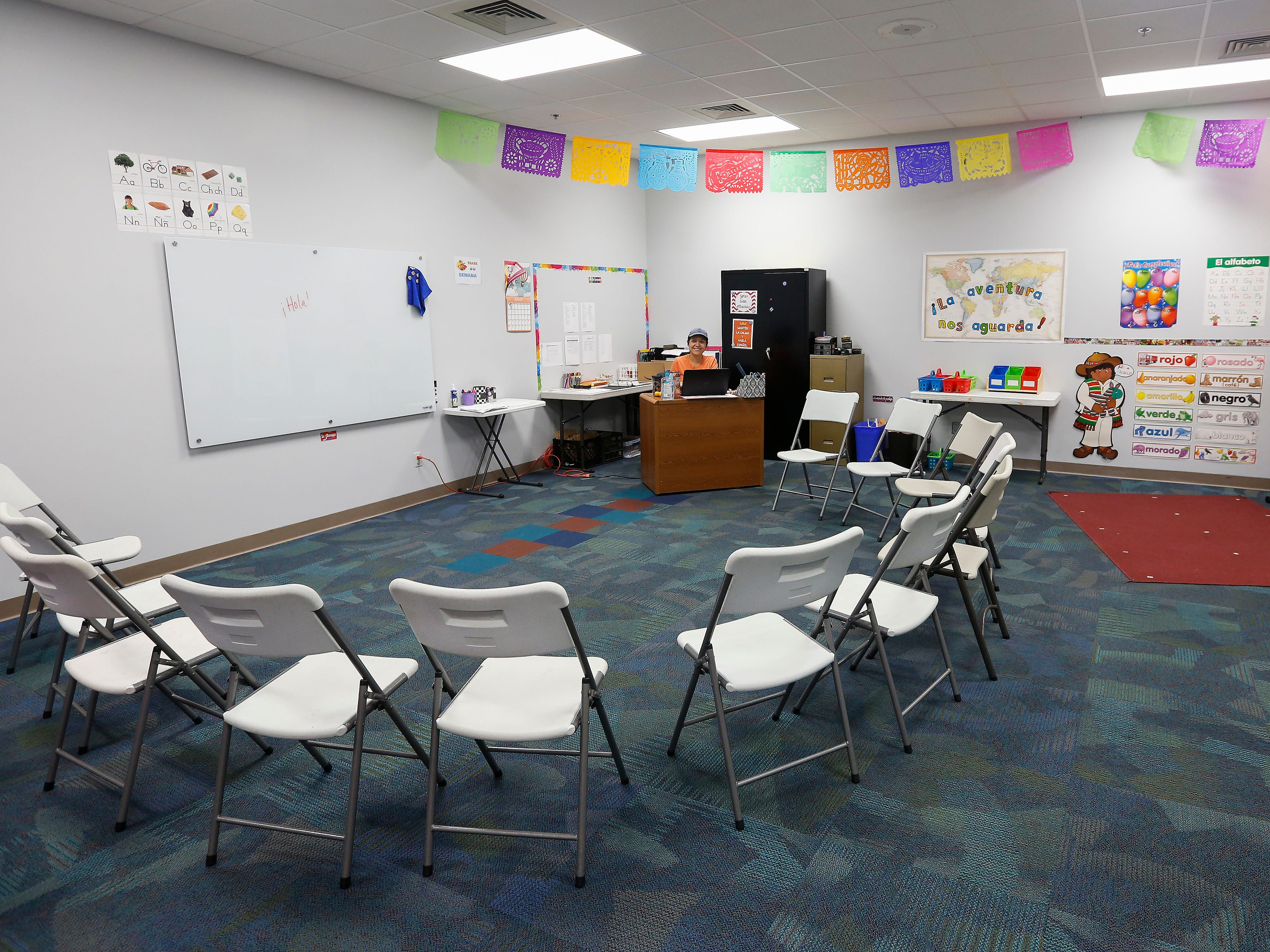 One of two Spanish classrooms at the Summit Preparatory School.