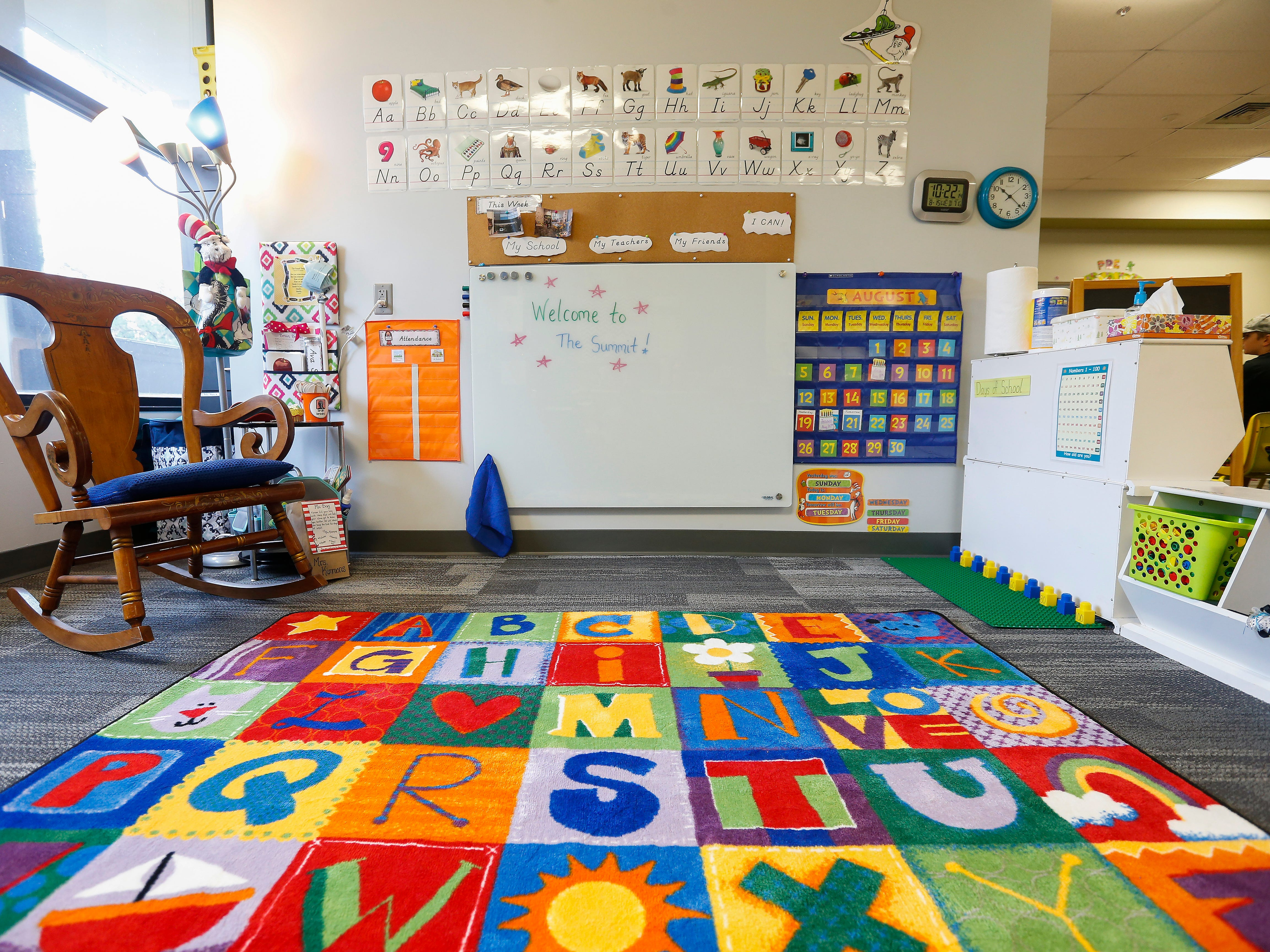 The beginners classroom at the Summit Preparatory School.