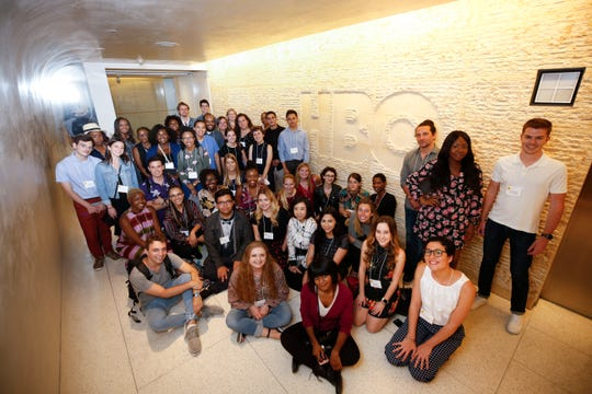 Sierra Obioha is among the group of Television Academy Foundation interns when they made a visit to HBO offices on July 12, 2018 in Santa Monica, Calif.