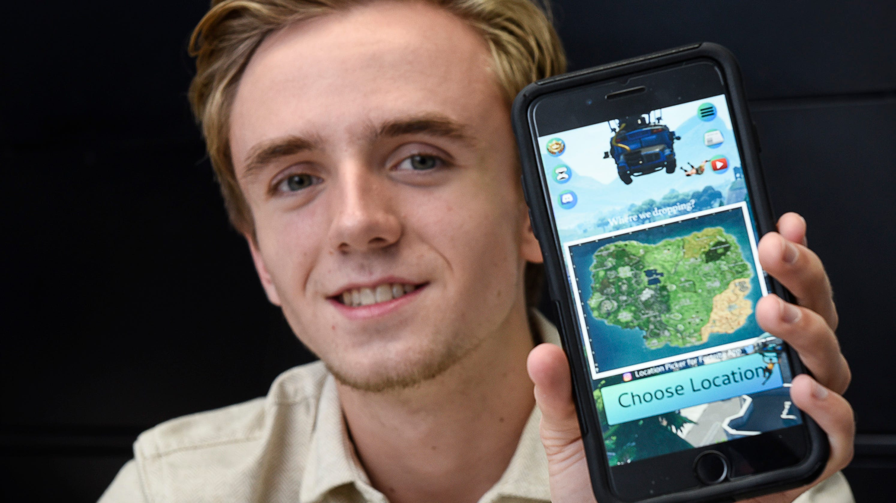 more than a game local teen s fortnite app doubles as summer job - fortnite app on phone