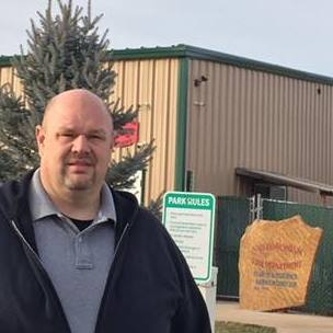 Ougoing Apple Valley Mayor Robert Campbell is pictured outside the town office.
