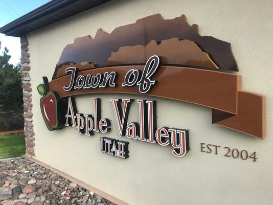 apple valley stock image