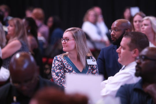 Attendees listen to speakers talk about the condition of the Big Bend community and strides the United Way is working on to make improvements during their community luncheon at the Tucker Civic Center on Thursday, August 16, 2018.