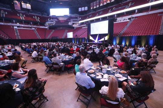 Attendees listen to speakers during the United Way Community Luncheon at the Tucker Civic Center on Thursday, August 16, 2018.