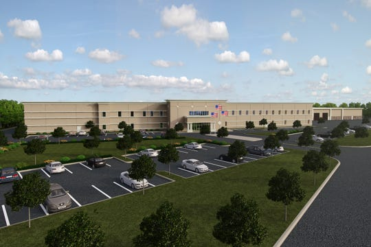 Waterblasting Technologies, which is changing its name to Hog Technologies, produces pavement-maintenance machinery for roads and runways. The company plans a 65,000-square-foot addition to increase space for the company's production and offices. This is an artist's rendition of what the expansion will look like.