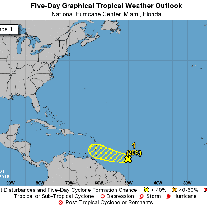 Tropical wave heading toward Caribbean has 20% chance for development; Lane could become major hurricane