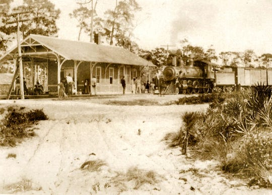 Hobe Sound Train Depot in 1900