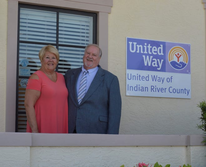 Hope For Families Center Executive Director Dr. Diana Grossi, left, and Michael Kint, CEO of United Way of Indian River County.