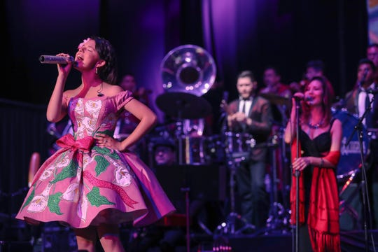 "Angela Aguilar is growing up in show business alongside her father, Antonio Aguilar. She released a joint album with her brother, Leonardo Aguilar, ""Nueva Tradicion,"" in 2012."