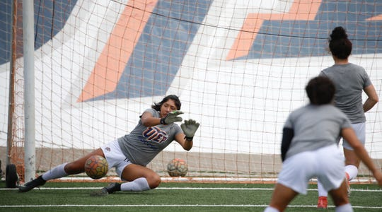 UTEP goalkeeper Alyssa Palacios credits her family with inspiring her competitiveness.