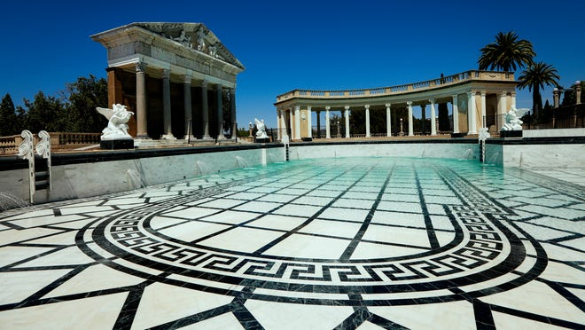 The Neptune Pool at Hearst Castle in San Simeon is one of the site's main attractions.