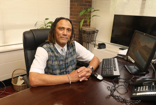 Charles Morgan, the new director for the New Rochelle Community Action Program, is pictured in his office in New Rochelle, Aug. 16, 2018.