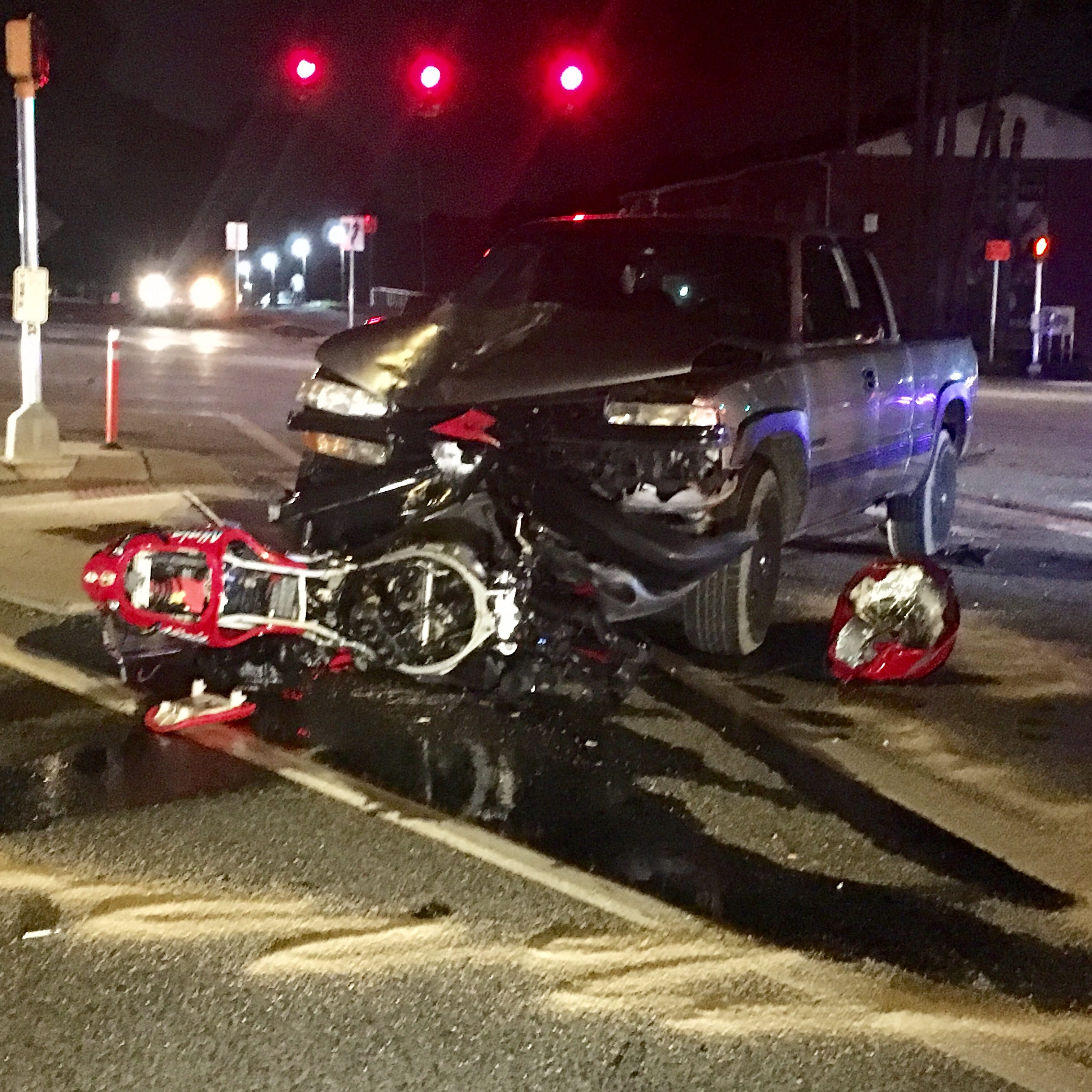 Motorcycle collision closes Del. 273 near New Castle on Wednesday night