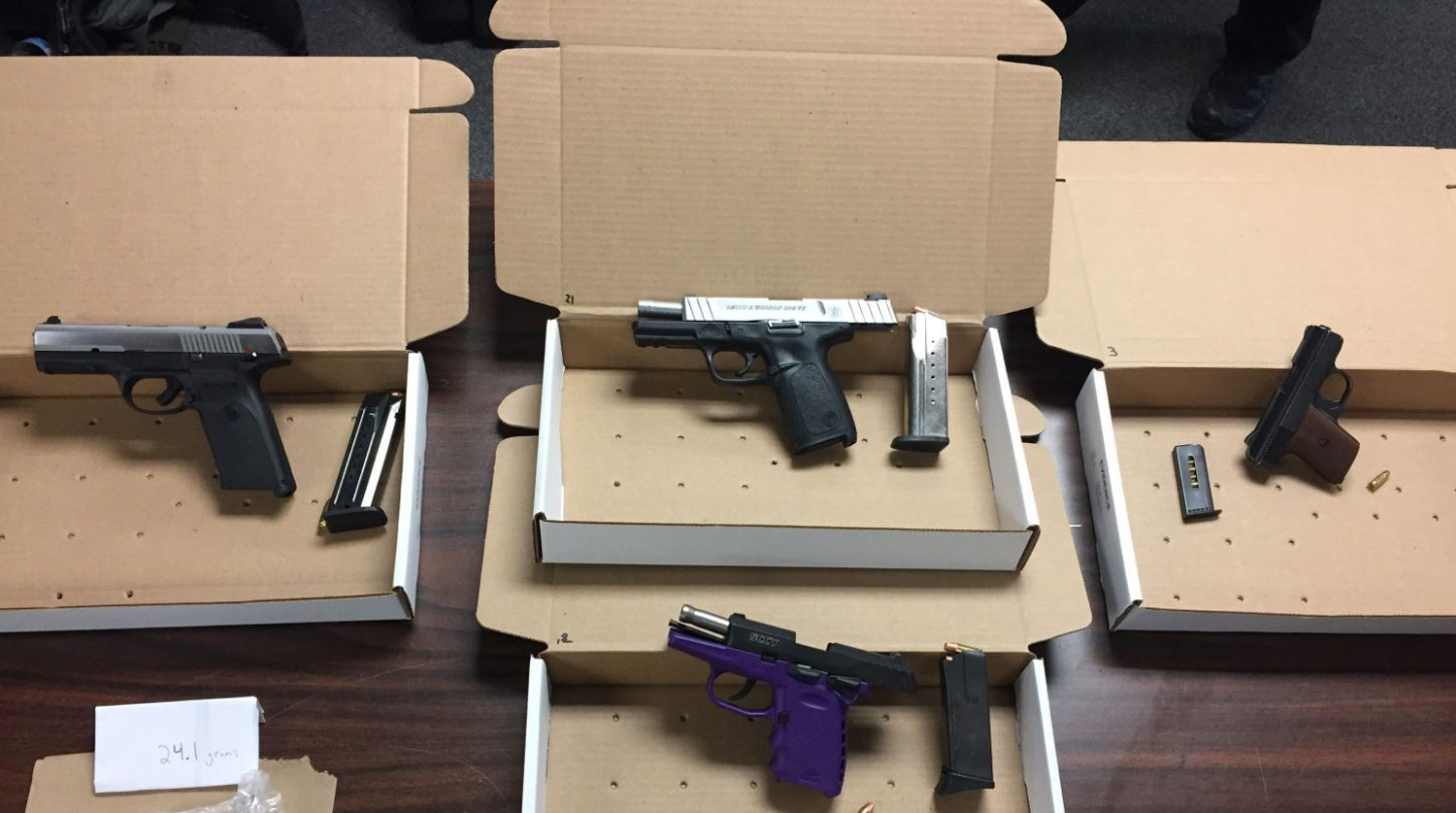 Six charged with gun, drug crimes after Dover investigation