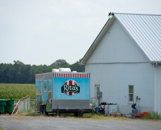 Rita's Water Ice mobile unit at 21228 Carey's Camp Road in Millsboro.