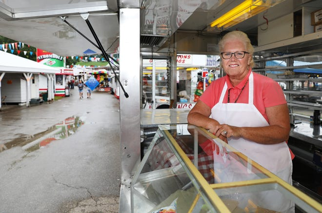 Debby Orosz has been operating concessions at county fairs since she was a child. She is part of the third generation of the Hoover Concession family.