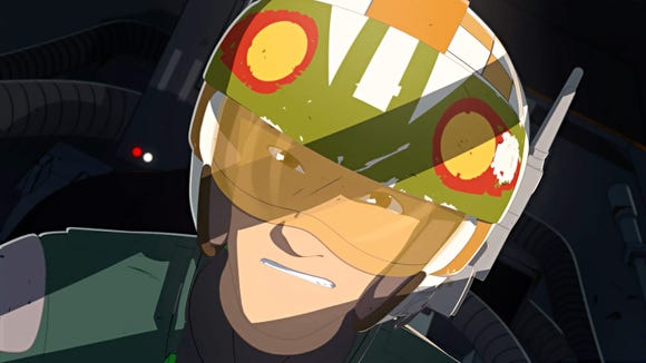 """Kazuda Xiono (voiced by Christopher Sean) is a young Resistance pilot sent undercover to spy on the first order in the animated series """"Star Wars Resistance."""""""
