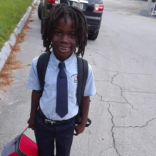 Clinton Stanley Jr., 6, was turned away for his first day of school at A Book's Christian Academy.