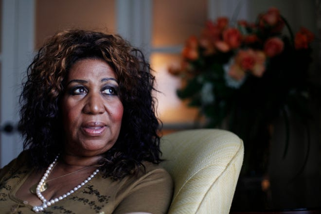 In this July 26, 2010 photo Aretha Franklin poses for a portrait in Philadelphia . (AP Photo/Matt Rourke)
