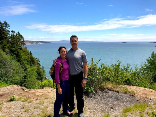 Syracuse-based couple Kelly Patrick and Frank Albanese stopped for a photo along an Irving Nature Park trail. Around every bend, the pair found another stunning view of the coastline.