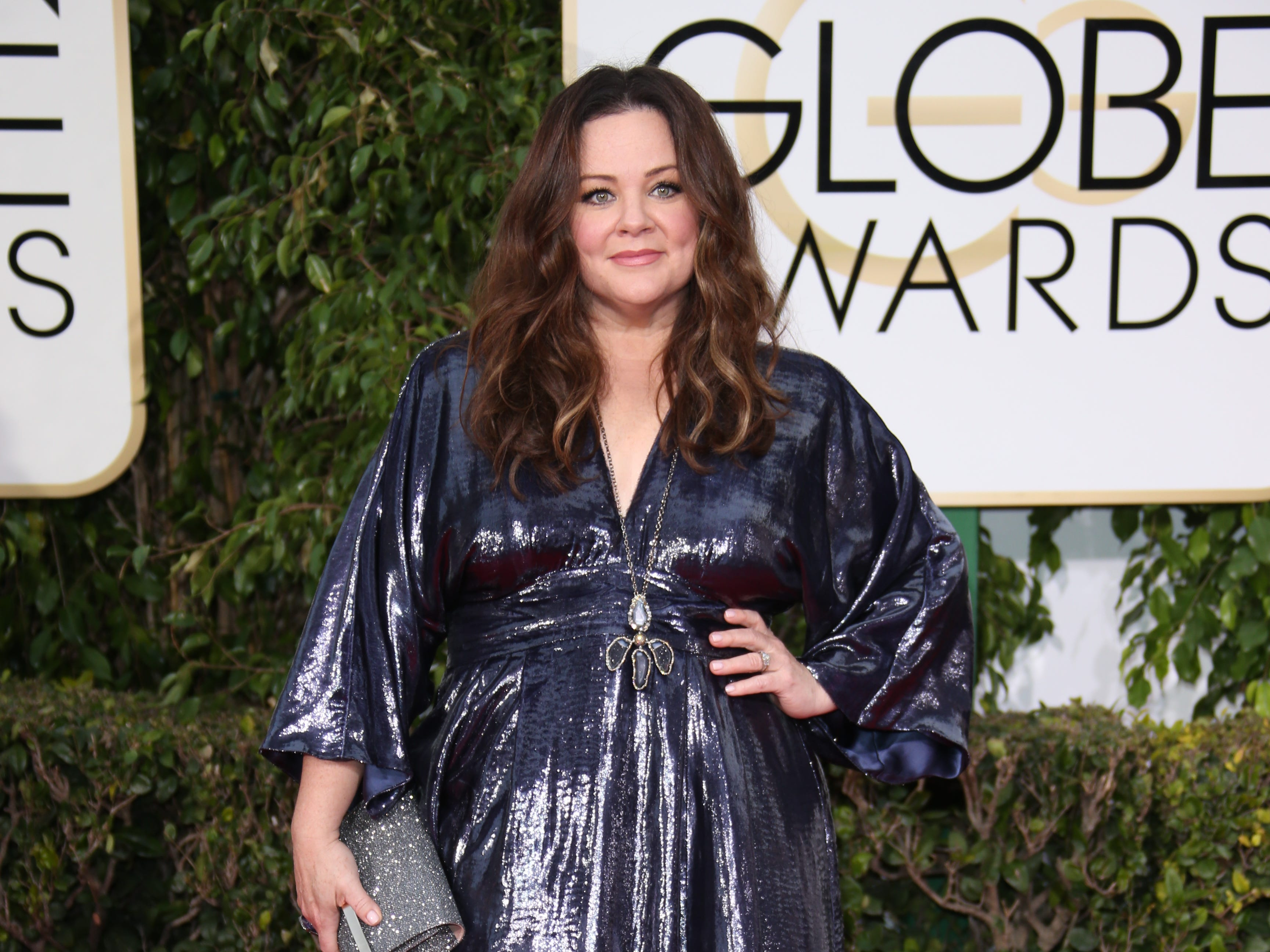 1/10/16 4:27:14 PM -- Beverly Hills, CA, U.S.A  -- Melissa McCarthy arrives at the 73rd Annual Golden Globe Awards at the Beverly Hilton Hotel. --    Photo by Dan MacMedan, USA TODAY contract photographer  ORG XMIT:  DM 134309 GOLDEN GLOBE AWA 1/10/2016 (Via OlyDrop)