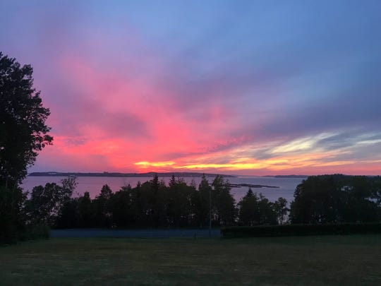 Campobello Island provided a spectacular sunset overlooking the Bay of Fundy in New Brunswick, Canada.