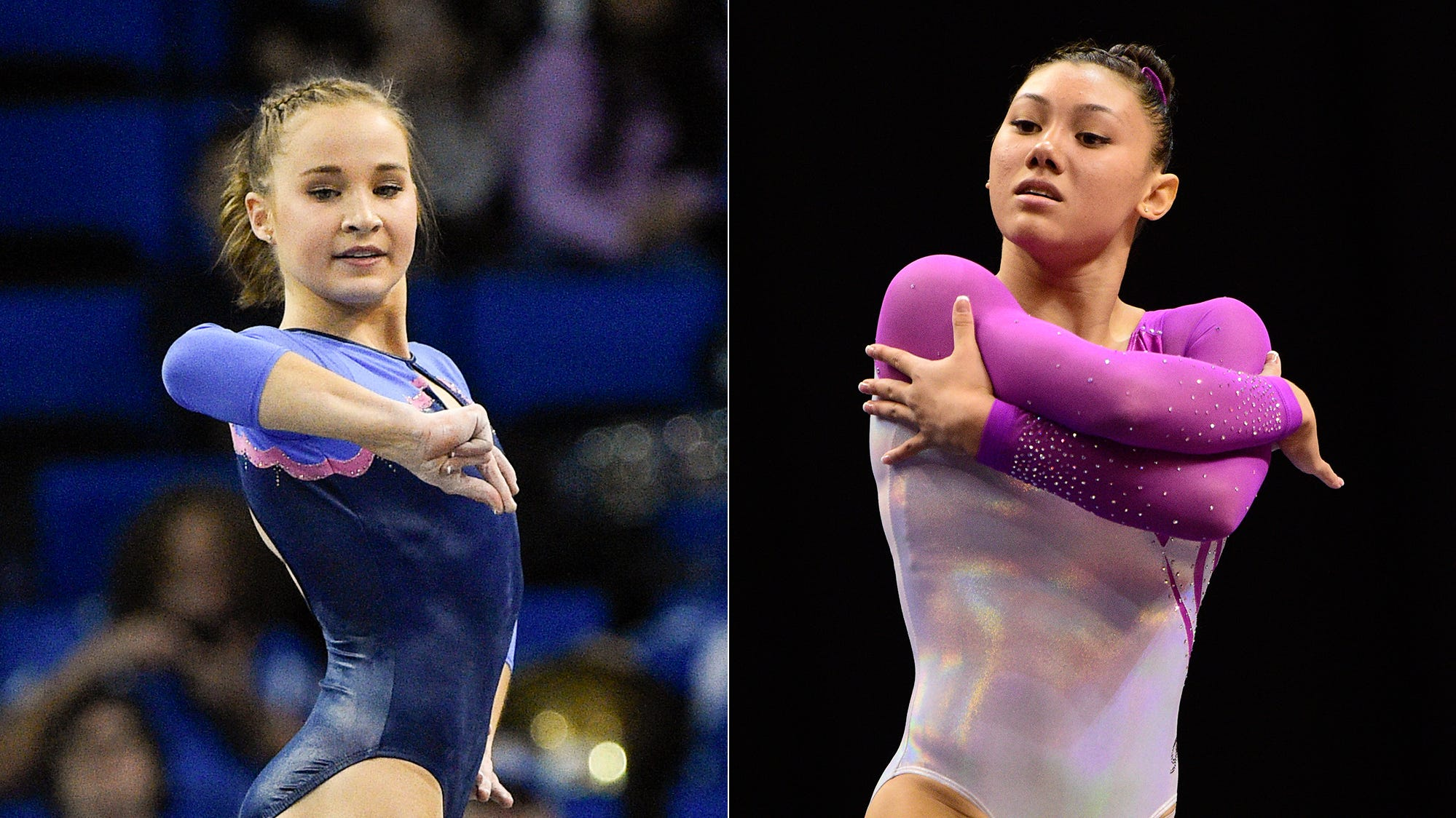 Madison Kocian and Kyla Ross
