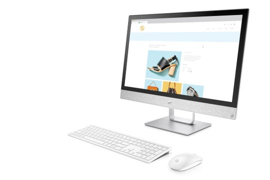 "HP AiO Pavilion: While not as popular as laptops, many PC makers like HP still create large and touch-enabled ""all-in-one"" PCs for the home or dorm room."