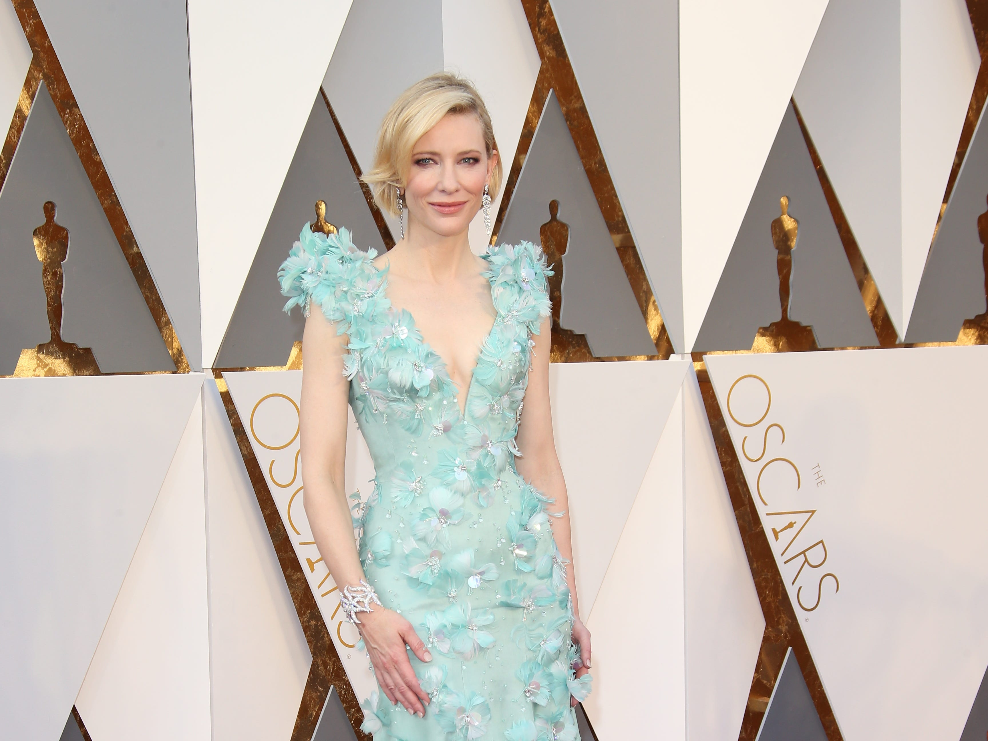 Feb 28, 2016; Hollywood, CA, USA;  Cate Blanchett arrives on the red carpet during the 88th annual Academy Awards at the Dolby Theatre. Mandatory Credit: Dan MacMedan-USA TODAY NETWORK ORG XMIT: USATSI-265242 (Via OlyDrop)