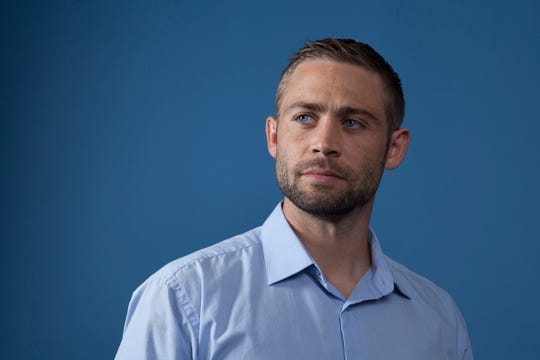 """Paul Walker's brother, Cody Walker, poses for a portrait in promotion of the documentary film """"I Am Paul Walker""""  nearly five years after Paul Walker's death."""