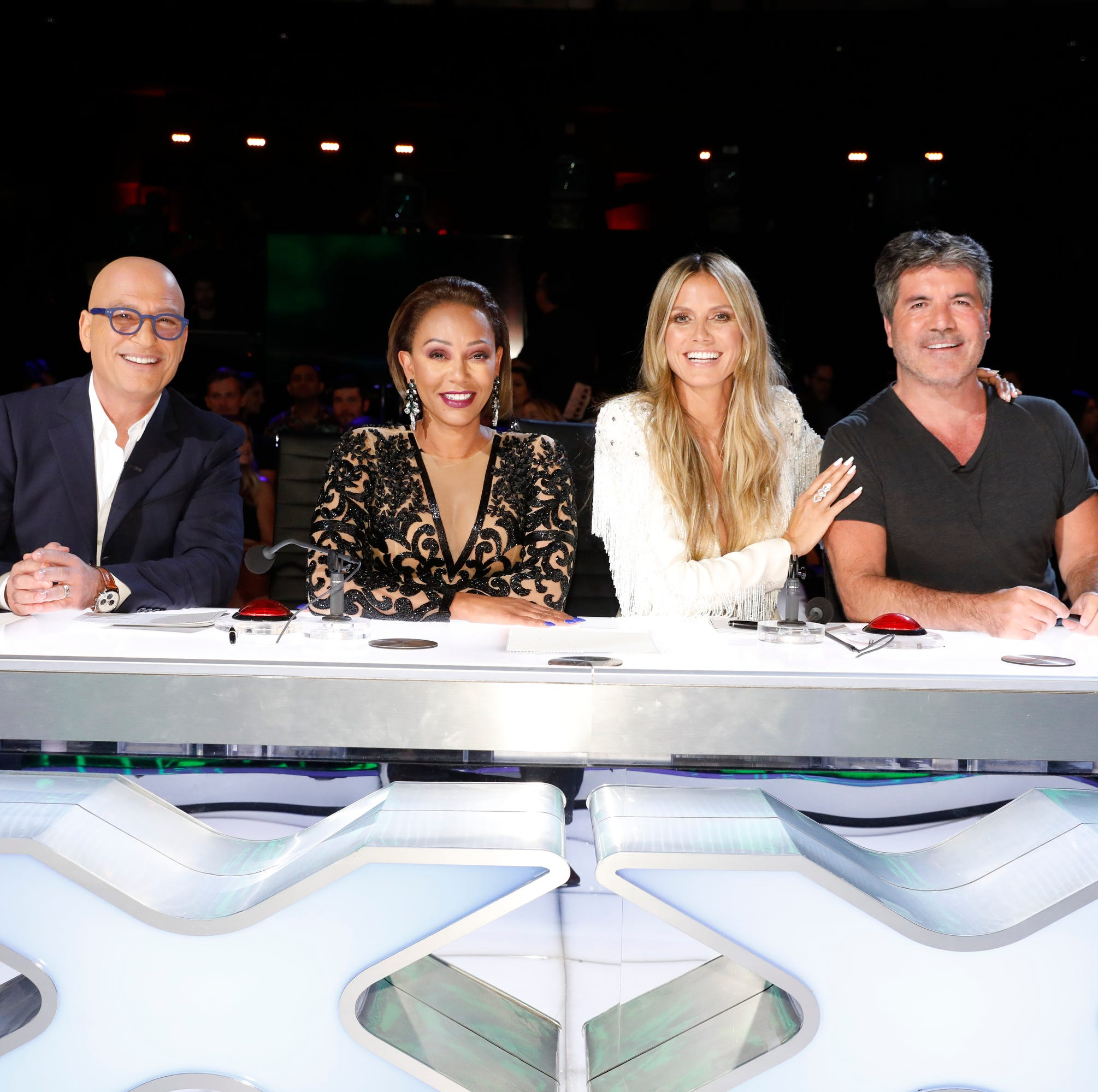 Howie Mandel, left, Mel B, Heidi Klum and Simon Cowell are the judges on NBC's 'America's Got Talent.'
