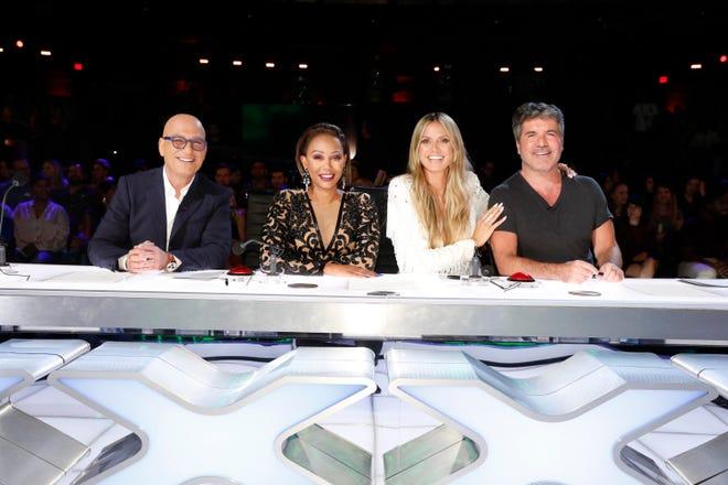 Howie Mandel, left, Mel B, Heidi Klum and Simon Cowell are the judges on NBC's 'America's Got Talent.'