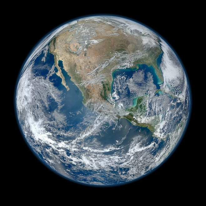 This Jan. 4, 2012 file photo provided by NASA shows the Earth taken from the The Visible/Infrared Imager Radiometer Suite instrument aboard NASA's Suomi NPP satellite.