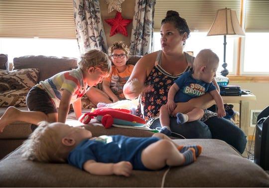 The Krean family in their Beachwood home.